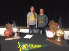 Baleigh Delorit and Coach Mark Zastrow
