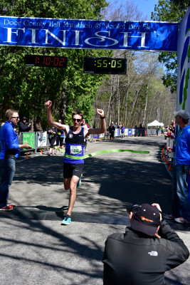 2016 Door County Half Marathon held Saturday, May 7, 2016 in Peninsula State Park, Fish Creek, Door County, WI. Photo by Len Villano.